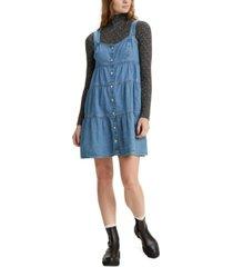 levi's joni cotton tiered denim dress