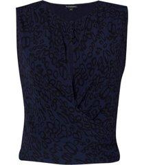 top yves (estampa asas dark blue, 50)