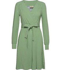 tina dresses wrap dresses grön jumperfabriken
