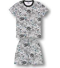 pijama marisol adulto  branco - branco - masculino - dafiti