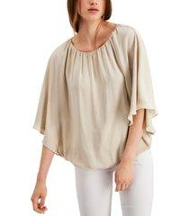alfani bubble-hem blouse, created for macy's