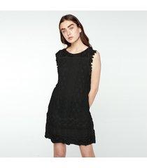 zanzea mujeres sin mangas de encaje crochet loose summer casual mini vestido corto plus -negro