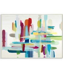 """stupell industries colorful cross hatch abstraction wall plaque art, 12.5"""" x 18.5"""""""