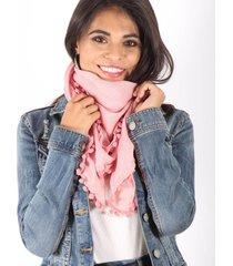 pañuelo rosa spiga 31 pompones