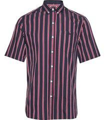 mesa shirt - midnight blue/red overhemd met korte mouwen roze forét