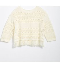 loft lou & grey fringestitch sweater