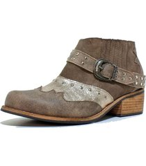 botin cuero texano taupe amano shoes