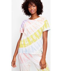 loft starburst tie dye pajama joggers