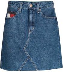 short denim skirt sv kort kjol blå tommy jeans