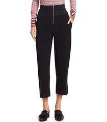 high-waist zip trousers