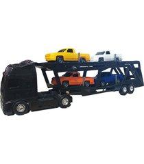 caminhão voyager cegonheira preto - roma