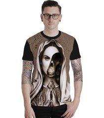 camiseta lucinoze manga curta 112 preta