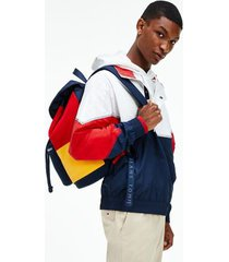 tommy hilfiger men's recycled lightweight zip jacket white / blue /red - xl