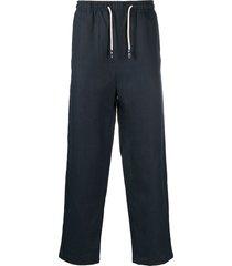 peninsula swimwear drawstring straight-leg trousers - blue