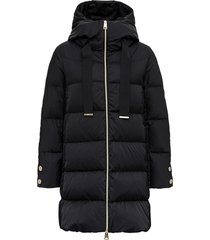 herno a-line long hooded down jacket