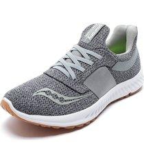 zapatilla deportiva stretch & go breeze gris saucony