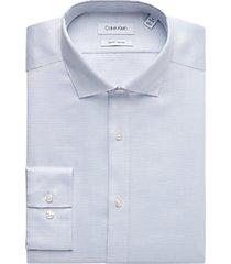 calvin klein navy geometric slim fit dress shirt
