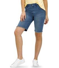 hue ultra-soft denim high rise bermuda shorts