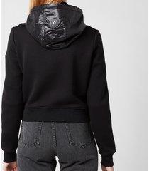 mackage women's ramona rain jacket - black - l
