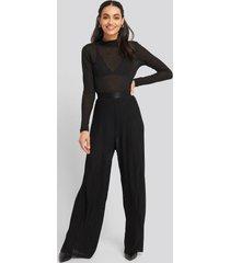 mango plipant trousers - black