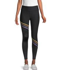 splendid women's core stripe leggings - black - size s