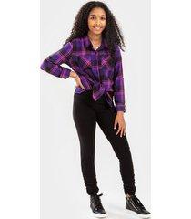 franki ruched leggings for girls - black