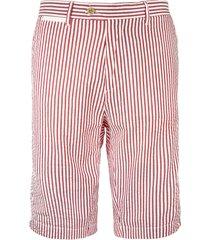 red stripe bermuda short
