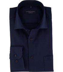 casa moda overhemd donkerblauw comfort fit