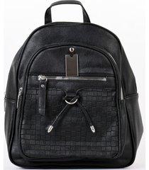 mochila bolsillo con lazo negro mailea