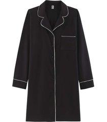 camisola hering chemise manga longa preto