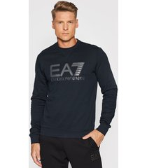 sweater ea7 emporio armani sweatshirt col rond 6kpm60-pj05z bleu