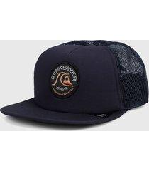gorra azul navy quiksilver broacher - trucker cap