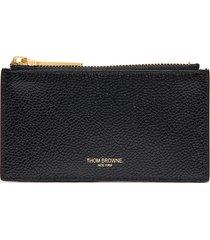 tricolour tab pebble grain leather wallet