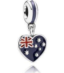 charm de prata coração australiano