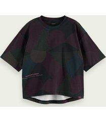 scotch & soda t-shirt met ronde zoom