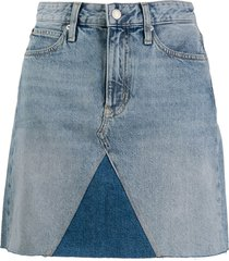 calvin klein jeans short denim skirt - blue