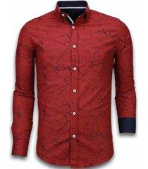 overhemd lange mouw tony backer blouse marble pattern