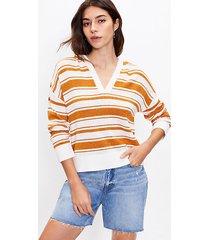 loft striped hooded sweater