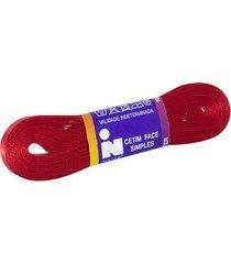 fita de cetim nº01 7mm peça com 10m vermelho unica