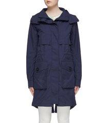 'cavalry' detachable hood windproof trench coat