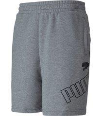 pantaloneta gris puma 9  classic logo hombre