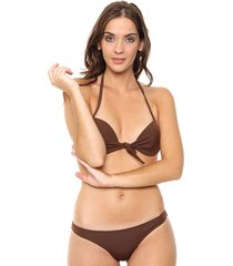 bikini marrón lecol talles reales elena