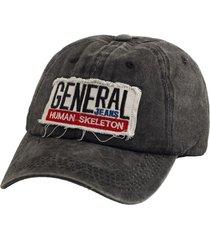 gorra negra bohemia vintage con parche