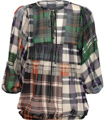 summum 2s2282-10984 120 top long sleeves patchwork check multicolour