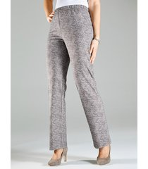 broek m. collection taupe::wit