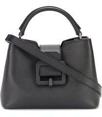 bally buckle tote - black