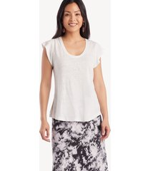 sanctuary women's alma scoop tee in color: white jasmine size large from sole society