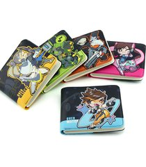 anime wallets overwatch student wallet men and women casual short wallet cartoon