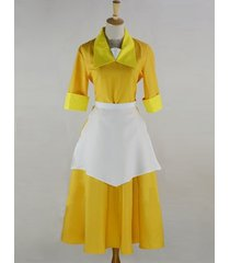 tiana cosplay costume tiana work yellow dress from the princess and the frog