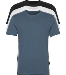 brace tonic 3 pack t-shirts short-sleeved zwart allsaints